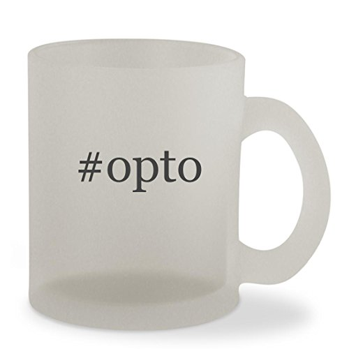 #opto - 10oz Hashtag Sturdy Glass Frosted Coffee Cup Mug