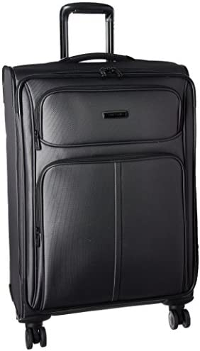 Samsonite Leverage LTE Softside Expandable Luggage with Spinner Wheels, Charcoal, Checked-Medium 25-Inch