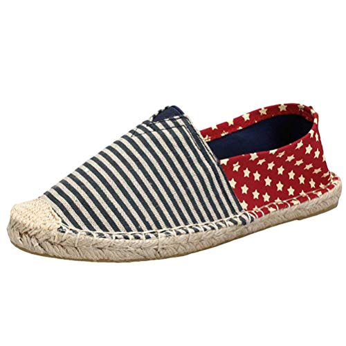 in in Unisex Blue EU44 Slip Traspirante Espadrille CH45 Flats Colore 5 Style on on ZHRUI Canvas Dimensione Slip UK10 Sneakers 3 Shoes EUdEZn