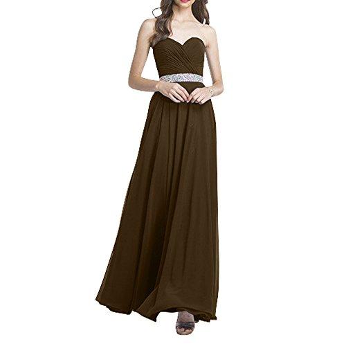 Brautmutterkleider Formalkleider Braun La mia Brau Chiffon Langes Festlichkleider Promkleider Neu Ballkleider Abendkleider gpIpTqw