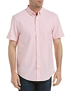Mens Updated Core Heritage Slim Fit Woven Shirt, S, Pink