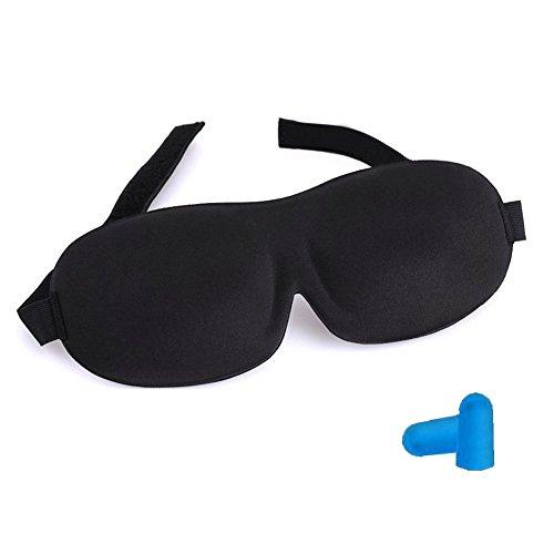 Capuleta Super Soft Adjustable Black 3D Sleep Eye Mask & Fre