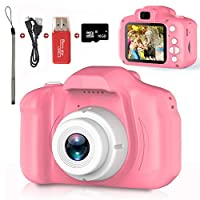 Kids Camera,Children Digital Cameras Kid Action Camera Toddler Video Recorder 1080P IPS 2 Inch,Child Rechargeable Camera with 16GB TF Card,Christmas and Birthday Toy Gifts for Kids Age 3-8