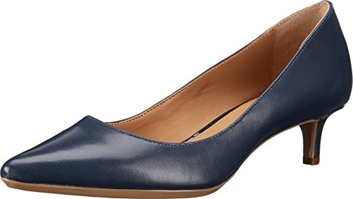 Heels High Navy Leather (Calvin Klein Women's Gabrianna Pump, Navy Leather, 9 Medium us)