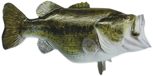 Paper House Productions M-0476E Die Cut Refrigerator Magnet, Largemouth Bass (6-Pack)
