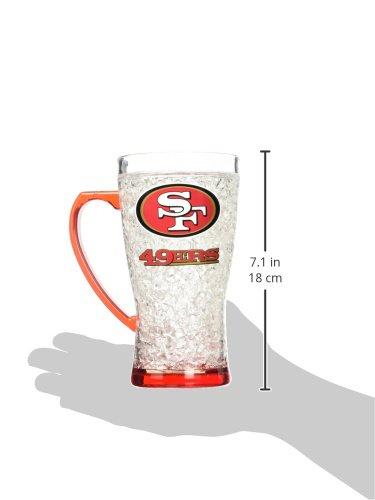 NFL San Francisco 49Ers 16oz Crystal Freezer Flared Mug