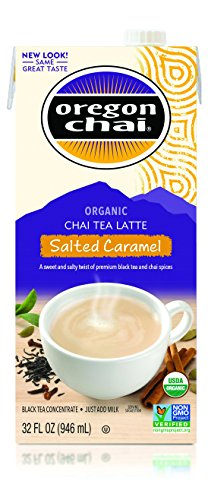 Oregon Chai Chai Tea Latte Concentrate, Salted Caramel, 32 Ounce Box (Pack of 6) (Best At Home Chai Latte)