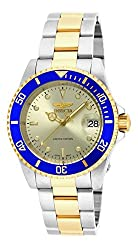 "Invicta Men's Ile8928obasyb Limited Edition ""Pro Diver"" Two-tone Automatic Watch With Link Bracelet"