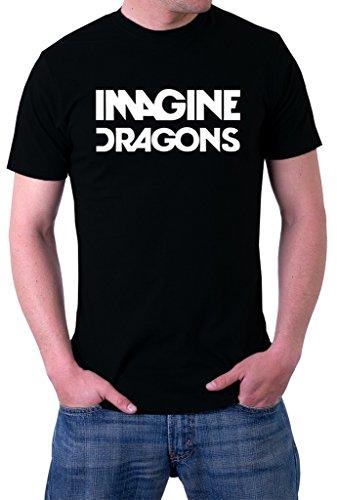 Imagine Dragons Rock Band Logo Men's T-Shirt Small (Mens Dragon)