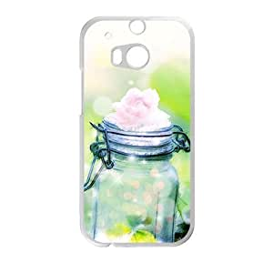 Glam Flower Bottle Personalized Phone Case For HTC M8