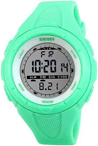 Kids Sports Watch Outdoor Multifunction LED Waterproof Stopwatch Alarm Children Wrist Watch for Boys Girls