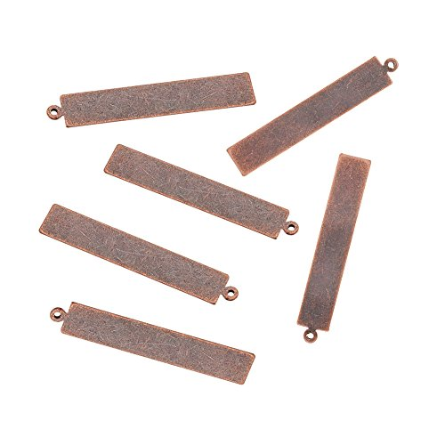 Pandahall Stamping Pendants Rectangle Jewelry