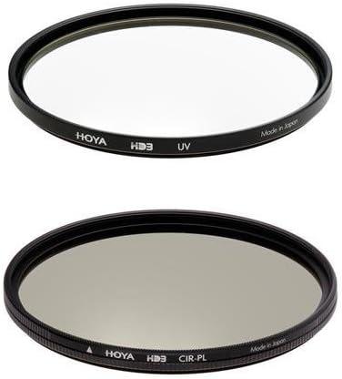 with Microfiber Cloth Hoya 67mm HD3 UV and Circular Polarizer Filter Kit