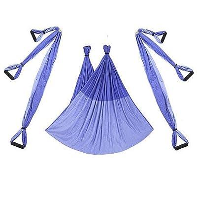 Alger Anti multifonctionnel de yoga de vol d'air de conditionnement physique multifonctionnel de hamac de volant aucune élasticité, 250 * 150cm , purple