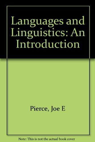Languages and Linguistics: An Introduction