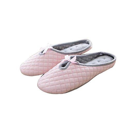Zapatillas DANDANJIE Gris Zapatillas caseros Arco Inicio Invierno Interior Plano Mujeres Flipflops de Zapatos Rosado Zapatos talón y de Antideslizantes Rosa rra1qxwd