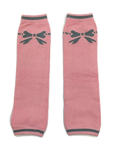 Rush Dance Ballerina Ballet Dress up Princess Baby/Toddler Leg Warmers (One Size, Pink with Gray Ribbon)