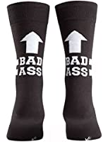 Sock It To Me Men's Crew Socks,Bad Ass,One Size