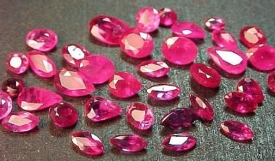 5 Carats Assorted Natural Ruby Gem Stone Gemstone (Five Faceted Gemstone)
