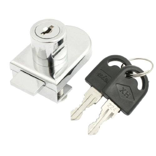 uxcell Cabinet Display Case Showcase Single Glass Door Lock 10mm Silver Tone Single Glass Door Lock
