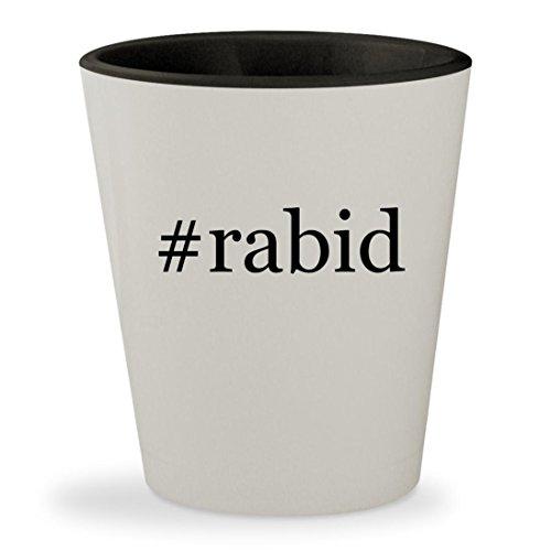 #rabid - Hashtag White Outer & Black Inner Ceramic 1.5oz Shot - Zangle Sunglasses