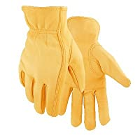 Golden Stag Driver Gloves Deerskin Large Rolled Gold