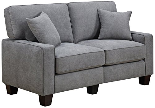 Serta RTA Palisades Collection 61″ Loveseat in Glacial Gray