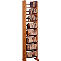 The Wood Shed 804 D Solid Oak CD Rack, Dark