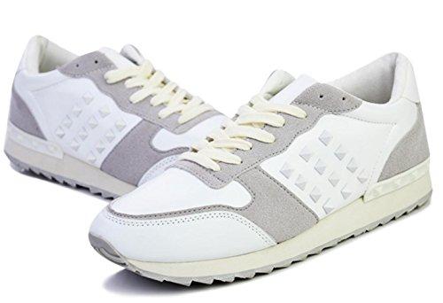 CSDM Uomini Nuovi sport di moda di svago Passeggiare Scarpe casuali Oro Bianco Nero Verde , white , 41
