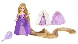 Disney T4952 - Muñeca de Rapunzel a la moda con 3 vestidos