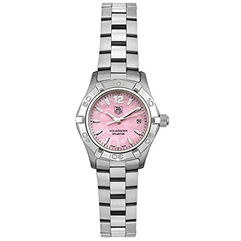 TAG Heuer Women's WAF1418.BA0812 Aquaracer Quartz Stainless Steel Pink Watch (Pink Tag Watch)