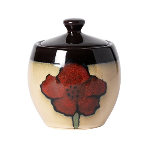 (Pfaltzgraff Painted Poppies Sugar Bowl with Lid, 10-Ounce)