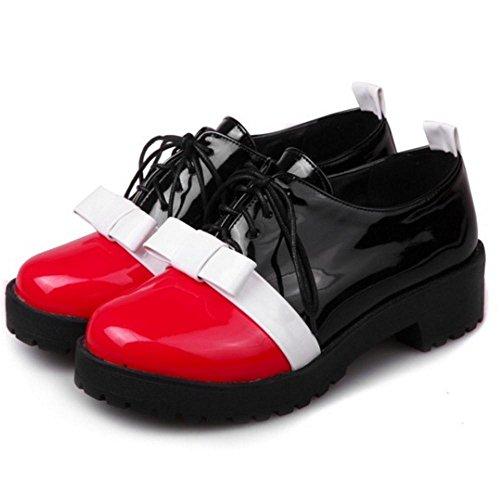 pour à rouge mode femmes Chaussures la TAOFFEN à lacets zRSx5tqqw