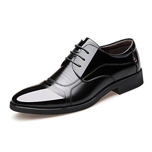 shoes in Nero con Pelle liscia Jiuyue Nero da Scarpe Uomo fodera pelle 2018 Dimensione Color Scarpe con lavoro traspirante superiori EU Laccioli cuciture formali Stringate uomo da 38 zpdqp