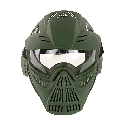 Paintball Goggles Mask for CS Airsoft War Game Army Masks with Lens Tactical Breathable Full Face Safety Riding Mask-OD]()