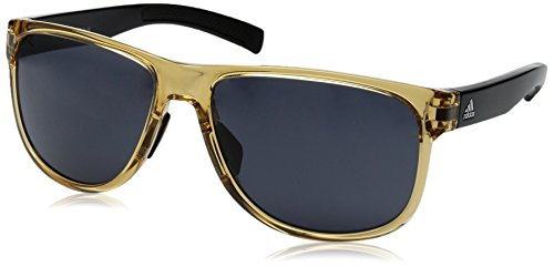 adidas Sprung Non-Polarized Iridium Round Sunglasses, Amber Shiny/Black, 60 - Sunglasses Adidas