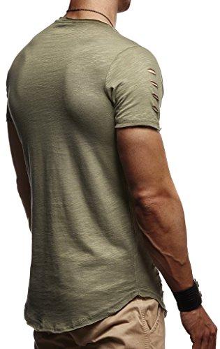 Manches Basic Nelson shirt Kaki À Courtes Destroyed Ln1 Col Sweat Homme Pour Rond Leif Tendance 10933t Capuche 7dq6UdWw