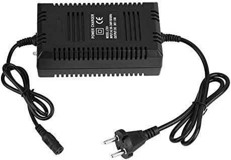 36 V/1.8A Batería de Plomo Cargador Eléctrico del Cargador para la Cochecito de Ebike Cargador del Carro Enchufe a 3 Pines (negro)