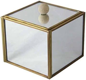 Better & Best Caja Espejo Dorada, pequeña, con Bola de Madera ...