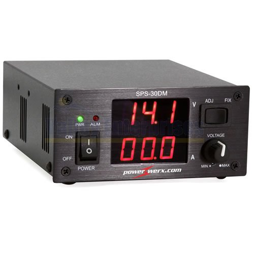 Variable 30 Amp Desktop DC Power Supply with Digital Meters SPS-30DM by Valley Enterprises