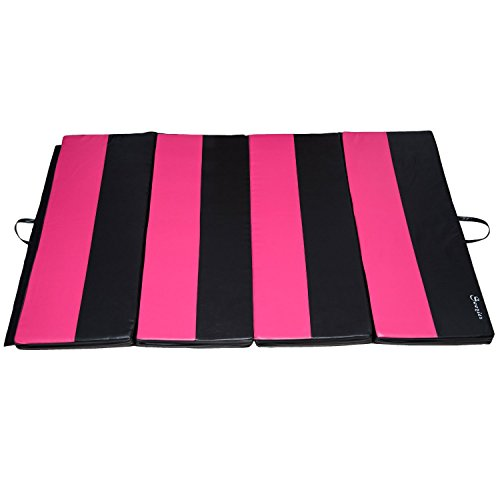 Soozier 4' x 10' x 2 PU Leather Gymnastics Tumbling /