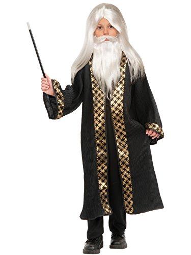 Forum Novelties Child's Wizard Wig, Moustache, & Beard Costume, White]()