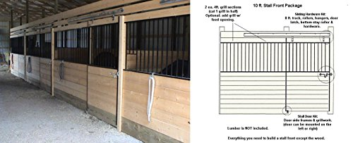 PS10GF 10ft Horse Stall Front Kit Black Enamel Coated Steel by Country Manufacturing (Image #1)