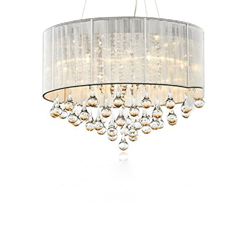 COLORLED-Modern-Minimalist-Flush-Mount-3-Light-Round-Crystal-Chandelier-177-WxH125-H-Inch-Ceiling-Light-for-Lving-Room-Lamp-Lighting-with-Silver-Shade
