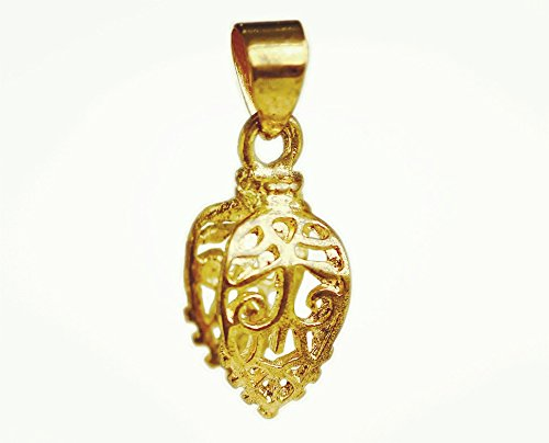 10pcs Decorated Carved Pendant Pinch Bail Supplies for Jewelry Making Findings Pb1 Pb1 (GOLD PLATED)