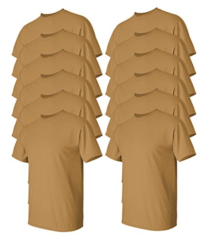 - Gildan Men's Heavy Cotton Tee (Pack of 12), Old Gold, Large