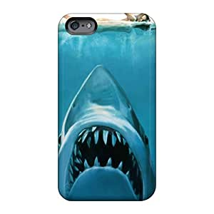 High Quality Hard Cell-phone Cases For Apple Iphone 6 (vps2992CVYG) Custom HD Water Concept Funny Sharks Swimming Jaws Image