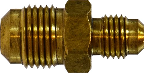 (Midland 10-121 Brass SAE 45 Degree Flare Male Reducing Union, 1/2