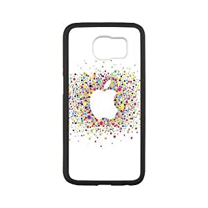 Samsung Galaxy S6 Cell Phone Case Black al57 logo art apple rainbow minimal JSK778932
