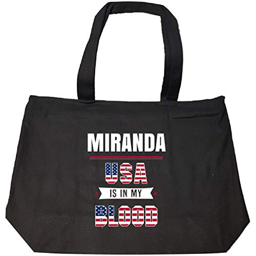 Miranda Usa In My Blood Independence Day Gift - Tote Bag With Zip
